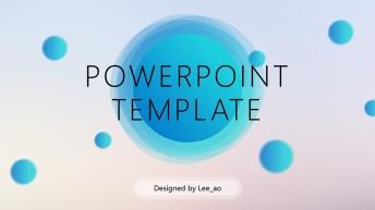 轻透质感渐变色风格时尚多用型模板(三套配色六种样式示例2