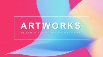 【抽象艺术】简约工作总结项目汇报通用模板