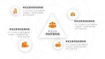 【精致视觉13】简素橙色弥散阴影通用商务模版示例6