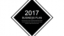 【耀你好看】黑白质感经典商业计划书示例2