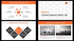 简洁大气明快醒目橙色商务通用PPT模板示例4