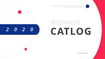 【簡約商務】紅藍色簡潔專業匯報演講總結PPT模板