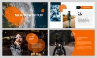 【简约商务】橙色自然致简网页杂志风PPT模板示例4