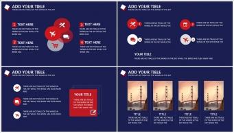 【稳重实用】蓝红色高端大气商务PPT模板示例4
