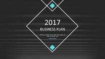 大气简约图文混排商业计划策划书ppt模板