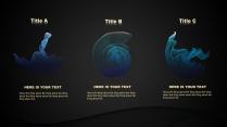 【简约黑色蓝色】科技动感波纹ppt示例5