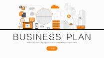 【双配色】极简线性城市商务商业科技IT模板示例2