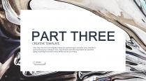 【海洋油彩】艺术创意抽象视觉提案高端时尚模板示例6