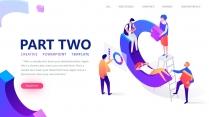 【商务插画】公司科技总结流程创意视觉形象推广团队模示例5