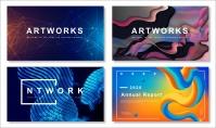 【抽象创意】现代时尚商务简约通用模板(含四套)
