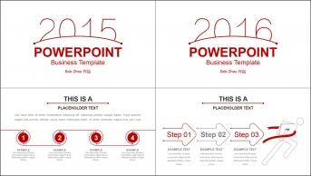 【线条的美3】简美红线实用商务PPT总结汇报模板