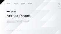 【創意幾何】高端現代商務報告工作計劃模板