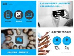 社交媒体-大气稳重简洁蓝灰色欧美范儿商务PPT模板示例6