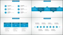 蓝色科技IT互联网公司企业商务工作PPT模板示例4