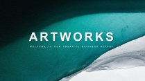 【抽象藝術】現代商務總結產品介紹模板