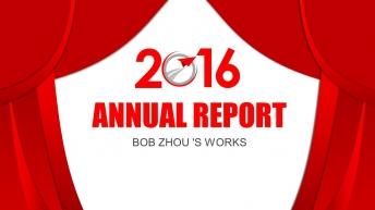 喜庆大气时尚精致实用的年度总结汇报PPT模板