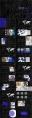 【作品集】沉稳黑蓝年终作品集模板示例3