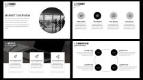 【耀你好看】黑白质感经典商业计划书示例5