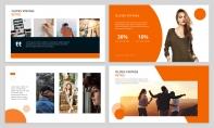 【简约商务】橙色自然致简网页杂志风PPT模板