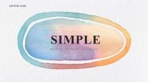 【简约商务】创意抽象清淡水彩现代商务汇报工作计划模