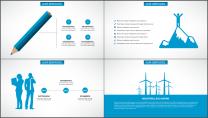蓝色科技IT互联网公司企业商务工作PPT模板示例5