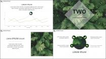 【E】绿色简约深林气息商务模板示例4