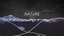 【黑色紫色双色】山峰风景自然商务图表ppt