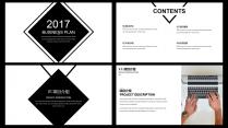 【耀你好看】黑白质感经典商业计划书示例3