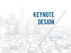 蓝色黑白背景简洁商务风格keynote模板