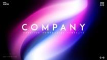【变幻】抽象梦幻未来感蓝紫ppt模板