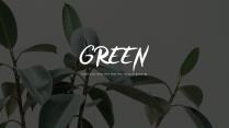 【玩色】2017流行色草木绿杂志风PPT模板