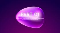 【变幻】抽象梦幻未来感蓝紫ppt模板示例3