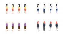 【会讲故事的模板2.0】扁平化卡通2.5d轴测图示例4