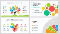【多彩扁平商务图表25页】创意关系图表 简洁多色示例3