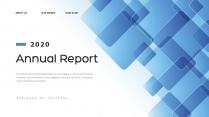 【创意几何】高端蓝色总结报告商务展示模板