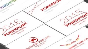 【合集】线条的美4套-简美红线实用商务PPT模板