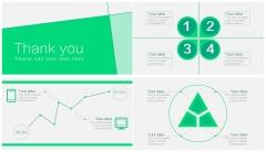 【动态】绿色 简约 清爽 win8风格 图表 汇报