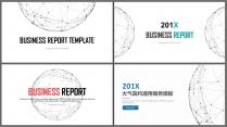 【创意点线合集】简约大气通用商务报告模板|90页