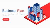 【酷城市】红蓝立体科技互联网工作通用PPT