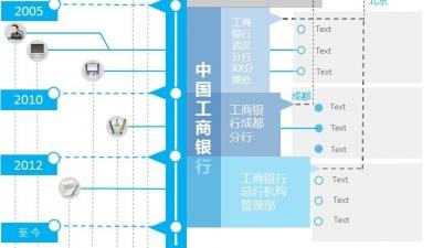 【单页蓝色时间轴简历模板ppt模板】-pptstore