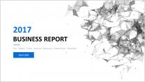 【点线艺术】清新简约商务通用报告模板-4蓝示例2