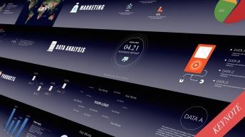 【动态keynote】精致高端商务汇报总结模板02