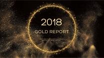 金色年终总结商务报告工作计划项目策划模板系列二十一