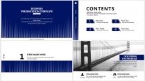 【分条析理D】蓝色科技极简大气商务工作总结年终汇报示例3