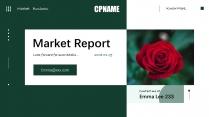 绿色大气杂志风商务汇报模板示例2
