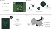 【E】绿色简约深林气息商务模板示例7