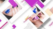 魅惑彩妆大气视觉化杂志风商务PPT模板示例3