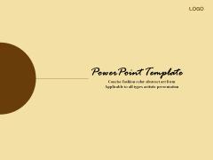 简洁时尚色彩抽象艺术PPT模板