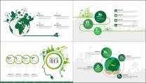 25套清新绿色环保行业工作汇报PPT图表