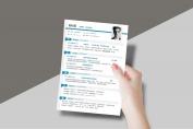 【一页纸简历】HR一眼相中PPT个人简历-180示例6
